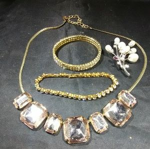 Rhinestone jewelry lot womens accessories